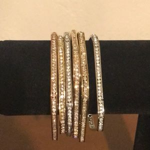 Set of squared bracelets